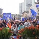 1 Pulse of Europe Kundgebung vor  Parlamentswahl Niederlanden, Frankfurt, 12.03.17