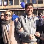 2  Pulse of Europe Kundgebung vor  Parlamentswahl Niederlanden, Frankfurt, 12.03.17